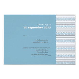 Fret Stripe Cornflower RSVP Card Invitation