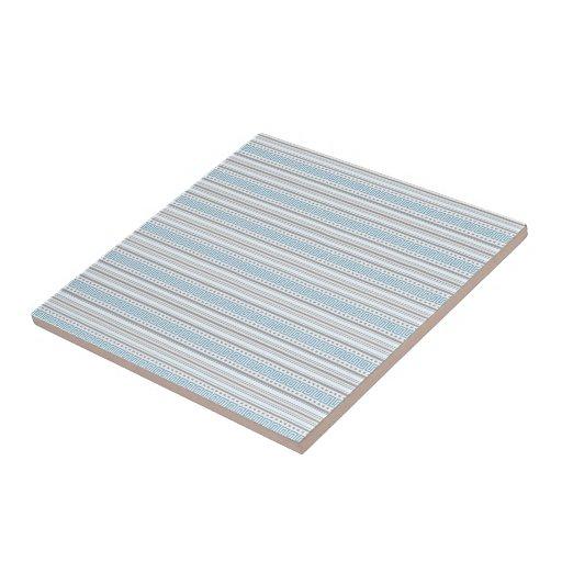 Fret Stripe Cornflower Tile