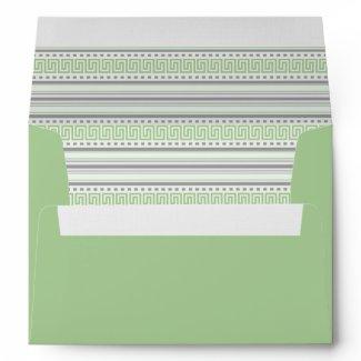 Fret Stripe pistachio A7 Envelope envelope