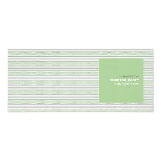 """Fret Stripe Pistachio Corporate Cocktail Invite 4"""" X 9.25"""" Invitation Card"""