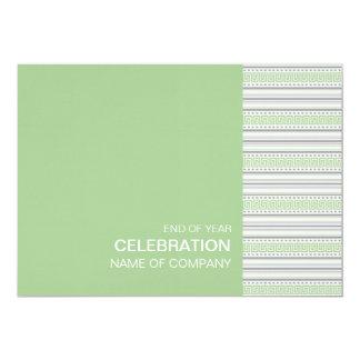 """Fret Stripe Pistachio Corporate Party Invitation 5"""" X 7"""" Invitation Card"""
