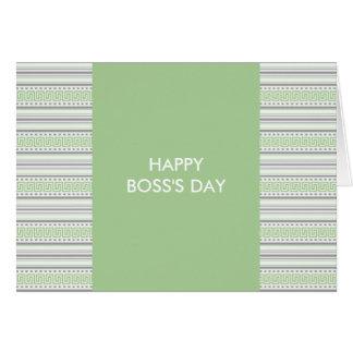 Fret Stripe Pistachio Happy Boss s Day Greeting Cards