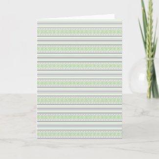 Fret Stripe pistachio Note Card card
