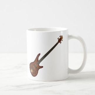Fretless 4 String Bass Guitar Coffee Mug