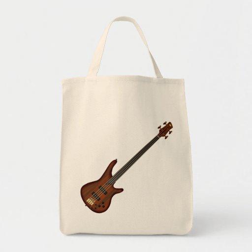 Fretless 4 String Bass Guitar Tote Bag