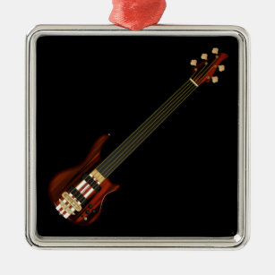 bass player ornaments keepsake ornaments zazzle. Black Bedroom Furniture Sets. Home Design Ideas