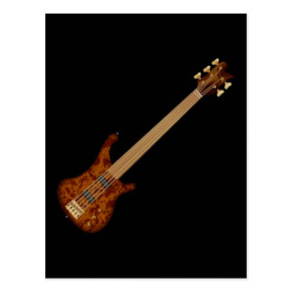 Fretless 5 String Bass Guitar Postcard