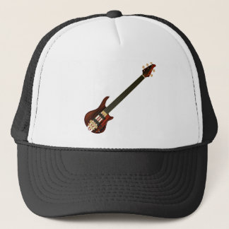 Fretless 5 String Bass Guitar Trucker Hat