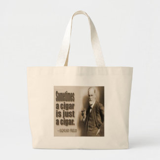 Freud And Cigar Quote Large Tote Bag