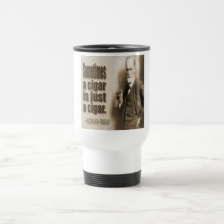 Freud And Cigar Quote 15 Oz Stainless Steel Travel Mug
