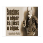 Freud And Cigar Quote Postcard