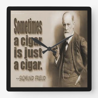 Freud And Famous Cigar Quote Wall Clock