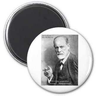 Freud Crazy Lovers Love Quote Gifts Cards Etc 2 Inch Round Magnet