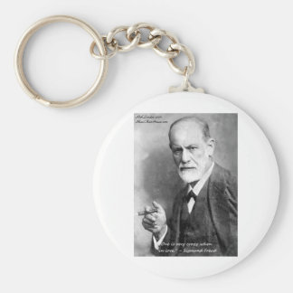 Freud Crazy Lovers Love Quote Gifts Cards Etc Basic Round Button Keychain