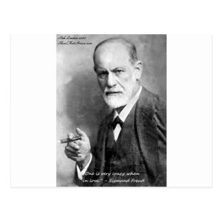 Freud Crazy Lovers Love Quote Gifts Cards Etc Postcard