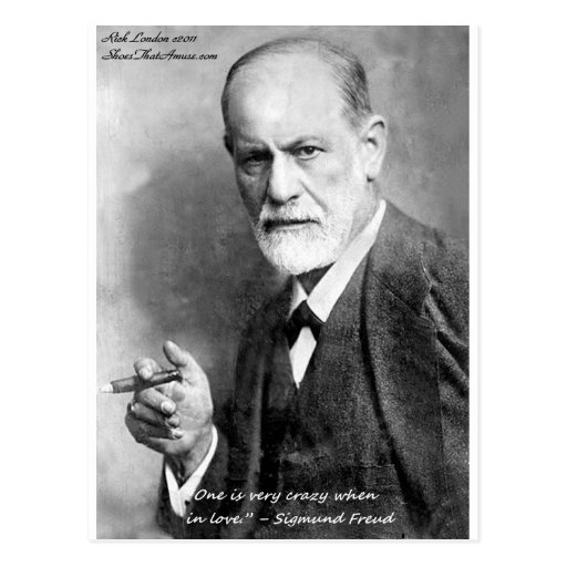 Freud Crazy Lovers Love Quote Gifts Cards Etc Post Cards