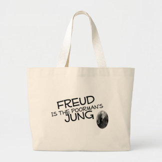Freud Is The Poorman's Jung Large Tote Bag