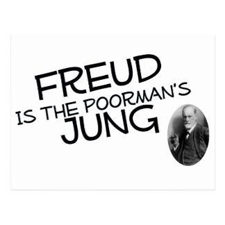 Freud Is The Poorman's Jung Postcard