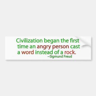 Freud on civilization bumper sticker