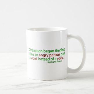 Freud on civilization coffee mug