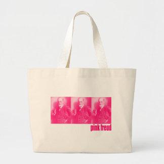 Freud rosado bolsas lienzo