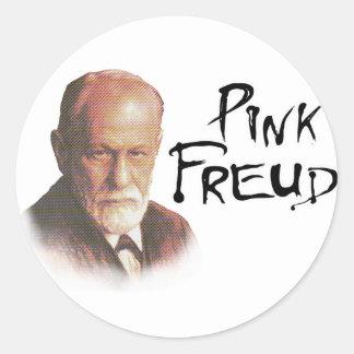 Freud rosado pegatina redonda