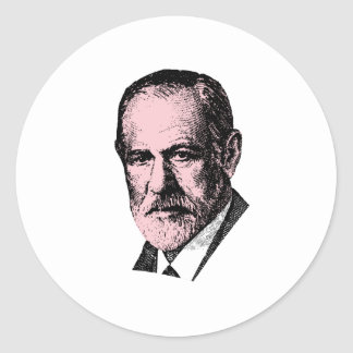 Freud rosado Sigmund Freud Pegatinas Redondas