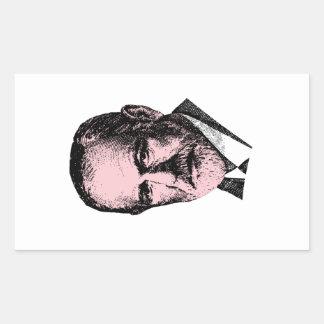 Freud rosado Sigmund Freud Pegatina Rectangular