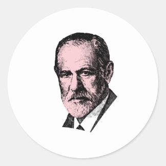 Freud rosado Sigmund Freud Pegatina Redonda