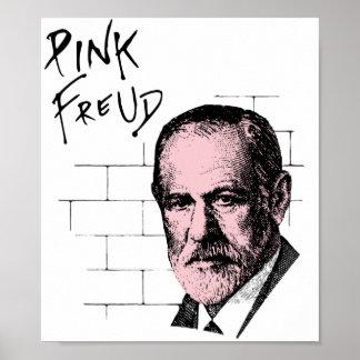Freud rosado Sigmund Freud Póster