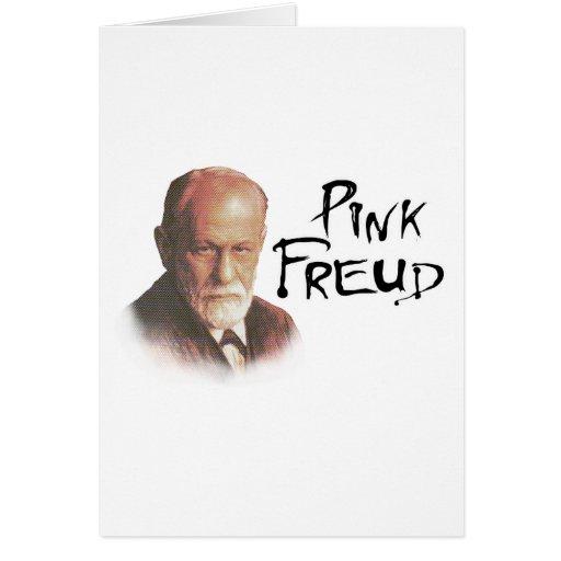 Freud rosado felicitación