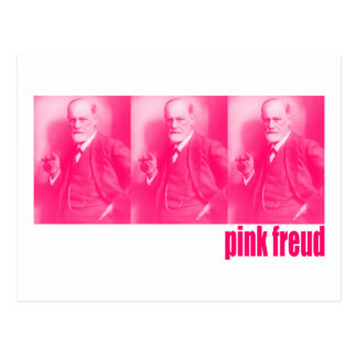 Freud rosado tarjeta postal