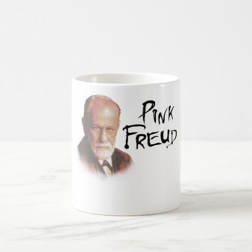 Freud rosado taza de café