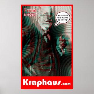 Freud Spanking Poster