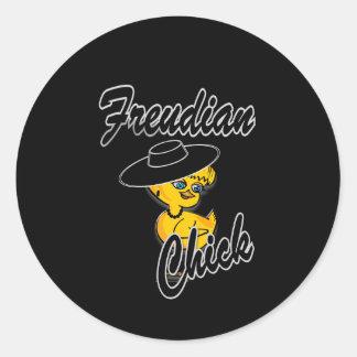 Freudian Chick #4 Round Sticker