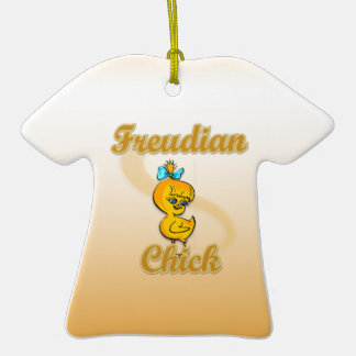 Freudian Chick Double-Sided T-Shirt Ceramic Christmas Ornament