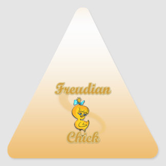 Freudian Chick Triangle Stickers
