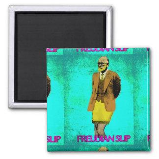Freudian Slip Grunge Pop Art Meme 2 Inch Square Magnet