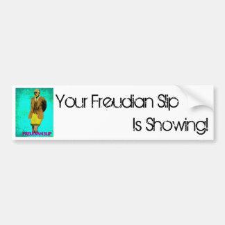 Freudian Slip Grunge Pop Art Meme Bumper Sticker