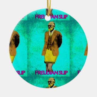Freudian Slip Grunge Pop Art Meme Ceramic Ornament