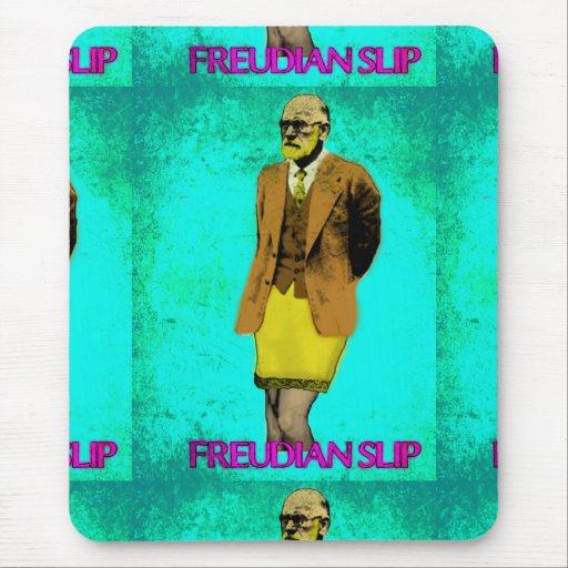 Freudian Slip Grunge Pop Art Meme Mouse Pad