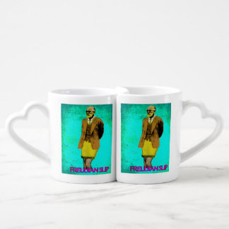 Freudian Slip Grunge Pop Art Meme Couples' Coffee Mug Set
