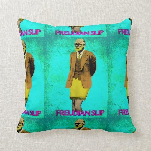 Freudian Slip Grunge Pop Art Meme Throw Pillow