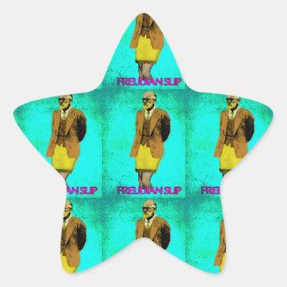 Freudian Slip Grunge Pop Art Meme Star Sticker