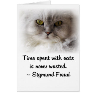 Freud's Cat Greeting Card