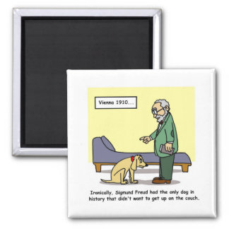 Freud's Dog Cartoon Magnet