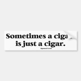 Freud's famous comment about cigars car bumper sticker