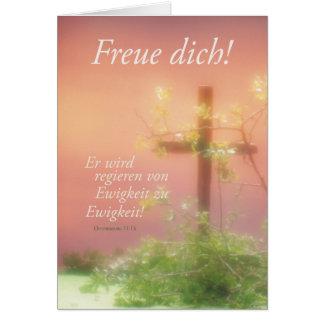 Freuen Ostern Kreuz & Pflanzen Card