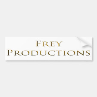 Frey Productions Gold Words Bumper Sticker