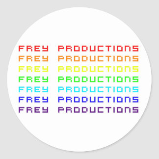 Frey Productions Rainbow Letters Sticker